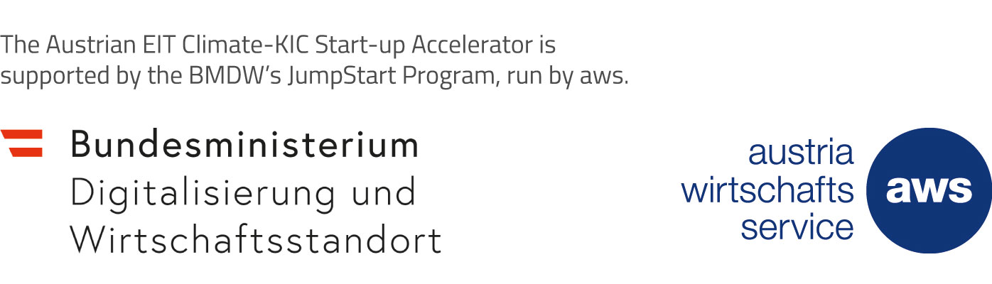 The Austrian EIT Climate-KIC Start-up Accelerator is supported by the BMDW's JumpStart Program, run by aws.